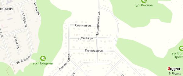 Дачная улица на карте Комсомольского поселка с номерами домов