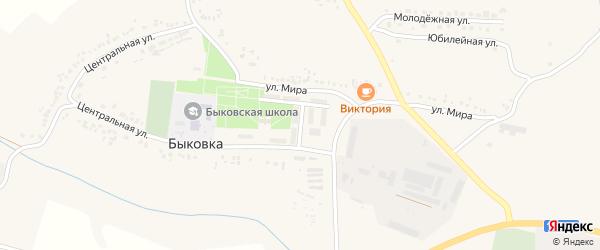 Улица Жилгородок на карте села Быковки с номерами домов