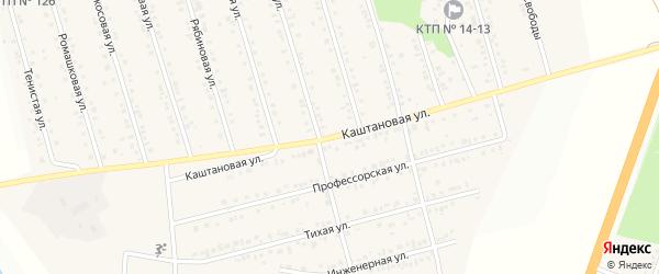 Каштановая улица на карте Майского поселка с номерами домов