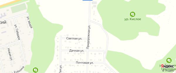 Придорожная улица на карте Комсомольского поселка с номерами домов