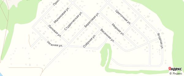Озерная улица на карте Комсомольского поселка с номерами домов