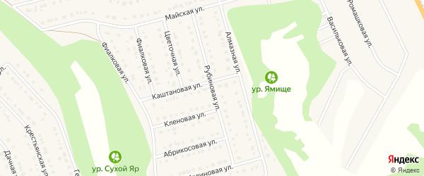 Рубиновая улица на карте Стрелецкого села с номерами домов
