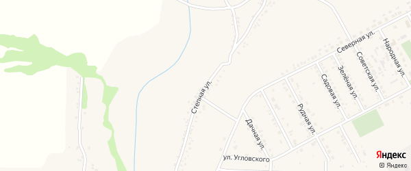 Степная улица на карте поселка Яковлево с номерами домов