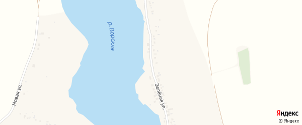 Зеленая улица на карте Крапивного села с номерами домов