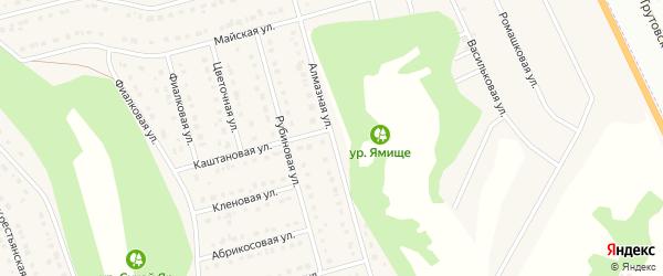 Алмазная улица на карте Стрелецкого села с номерами домов