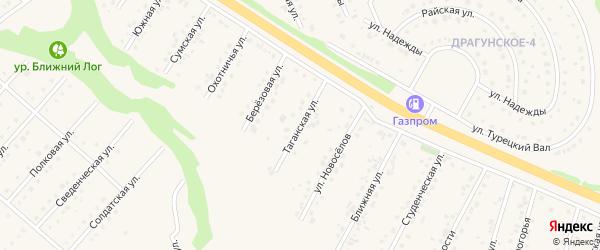 Таганская улица на карте Пушкарного села с номерами домов