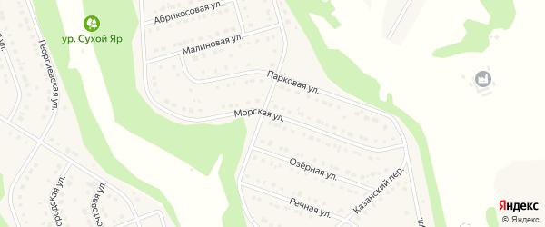 Морская улица на карте Стрелецкого села с номерами домов