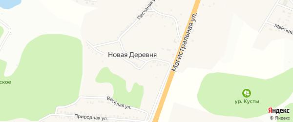 Озерная улица на карте села Новой Деревни с номерами домов