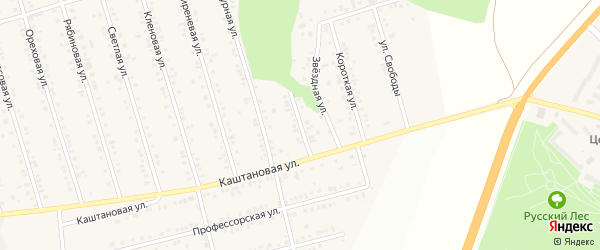 Уютный переулок на карте Майского поселка с номерами домов