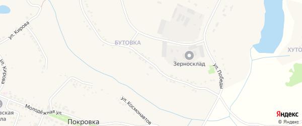 Улица Победы на карте села Покровки с номерами домов