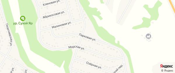 Парковая улица на карте Стрелецкого села с номерами домов