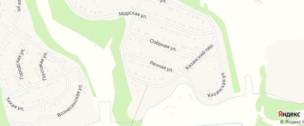 Речная улица на карте Стрелецкого села с номерами домов
