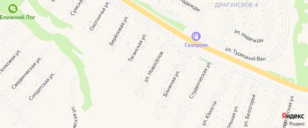 Улица Новоселов на карте Пушкарного села с номерами домов