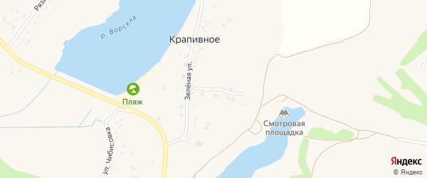 Зеленый переулок на карте Крапивного села с номерами домов