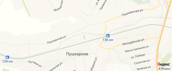 СТ Связист на карте Пушкарного села с номерами домов