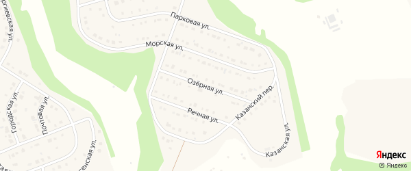 Озерная улица на карте Стрелецкого села с номерами домов