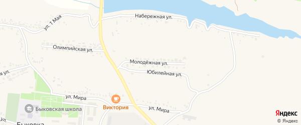 Молодежная улица на карте села Быковки с номерами домов
