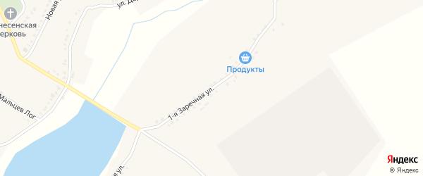 1-я Заречная улица на карте села Кочетовка с номерами домов