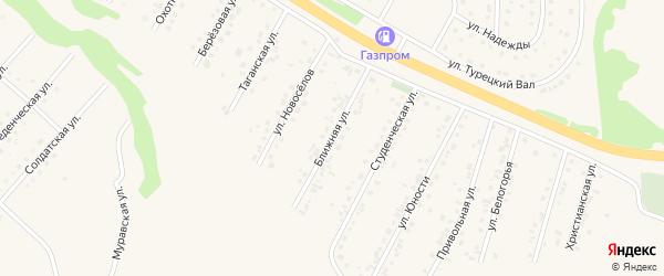 Ближняя улица на карте Пушкарного села с номерами домов