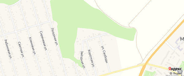 Звездная улица на карте Майского поселка с номерами домов