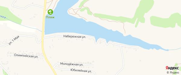 Набережная улица на карте села Быковки с номерами домов