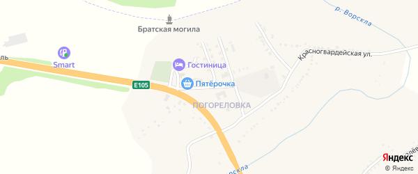Административная улица на карте поселка Яковлево с номерами домов