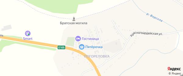 Геологическая улица на карте поселка Яковлево с номерами домов