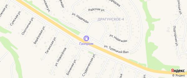 Улица Турецкий вал на карте Драгунского села с номерами домов