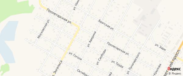 Улица Аверина на карте Вытегры с номерами домов
