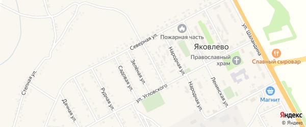 Советская улица на карте поселка Яковлево с номерами домов