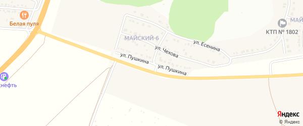 Улица Пушкина на карте Майского поселка с номерами домов
