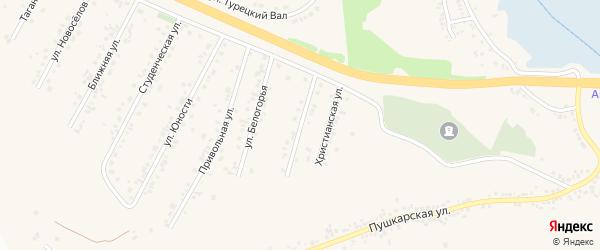 Улица 50 лет Курской битвы на карте Пушкарного села с номерами домов