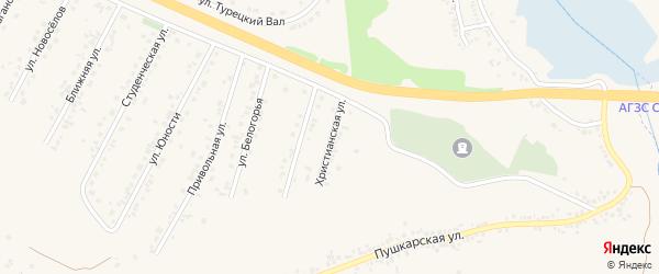 Христианская улица на карте Пушкарного села с номерами домов