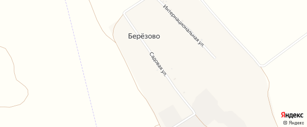 Садовая улица на карте хутора Березово с номерами домов