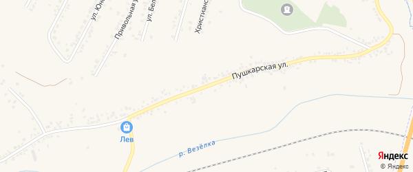 Пушкарская улица на карте Пушкарного села с номерами домов
