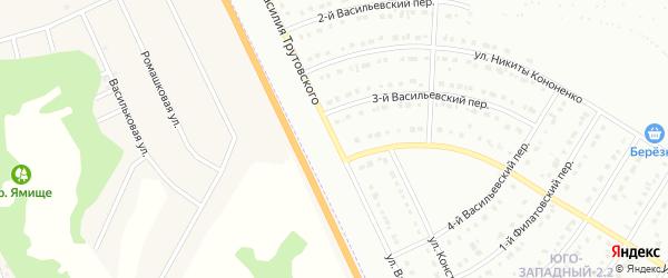 Улица Василия Трутовского на карте Белгорода с номерами домов