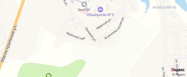 Лиловая улица на карте Майского поселка с номерами домов