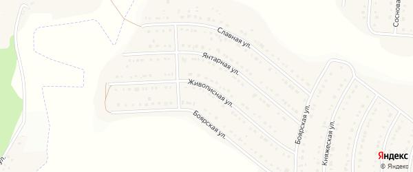 Живописная улица на карте Стрелецкого села с номерами домов
