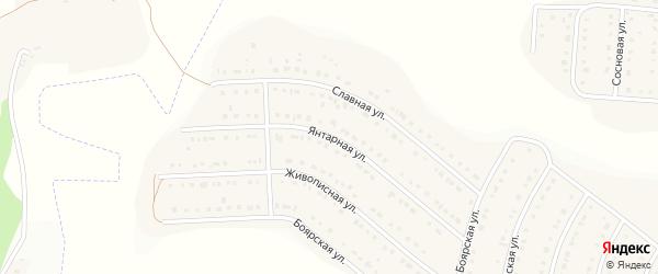 Янтарная улица на карте Стрелецкого села с номерами домов