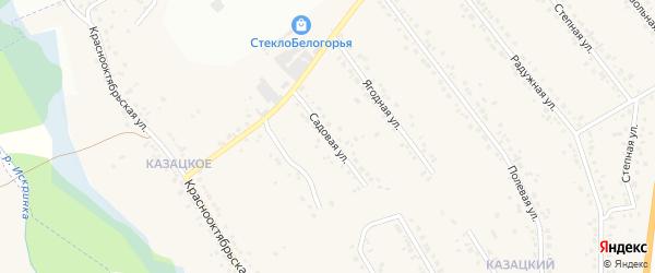 Садовая улица на карте Стрелецкого села с номерами домов