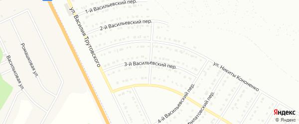 Васильевский 3-й переулок на карте Белгорода с номерами домов