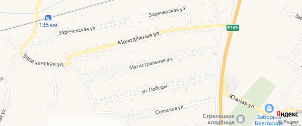 Магистральная улица на карте Пушкарного села с номерами домов