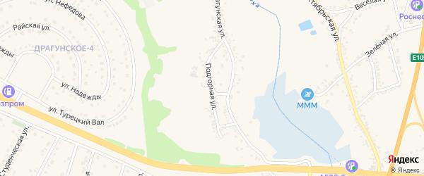 Подгорная улица на карте Драгунского села с номерами домов