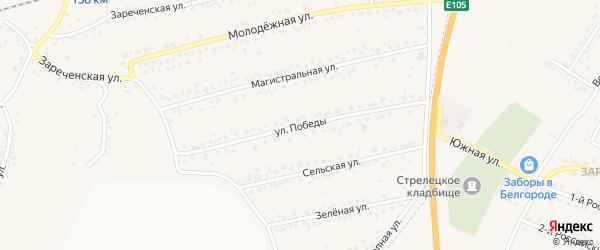 Улица Победы на карте Пушкарного села с номерами домов