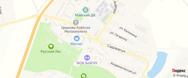 Садовая улица на карте Майского поселка с номерами домов