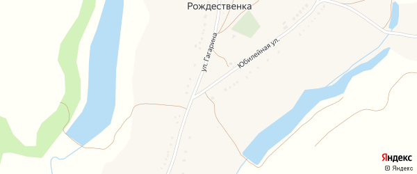 Юбилейная улица на карте села Рождественки с номерами домов