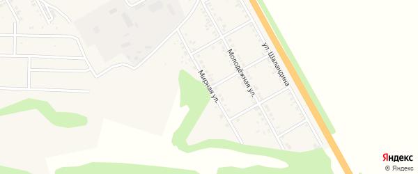 Мирная улица на карте поселка Яковлево с номерами домов