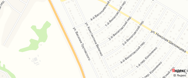 Улица Константина Величко на карте Белгорода с номерами домов