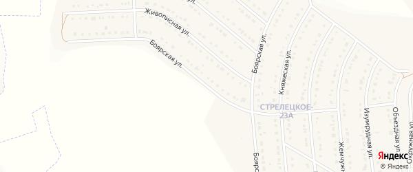 Боярская улица на карте Стрелецкого села с номерами домов