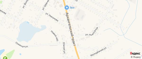 Архангельский тракт на карте Вытегры с номерами домов